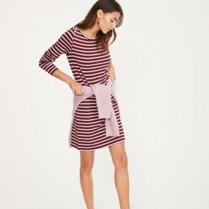 Lou & Grey Signature Soft Dress Long Sleeve Stripe